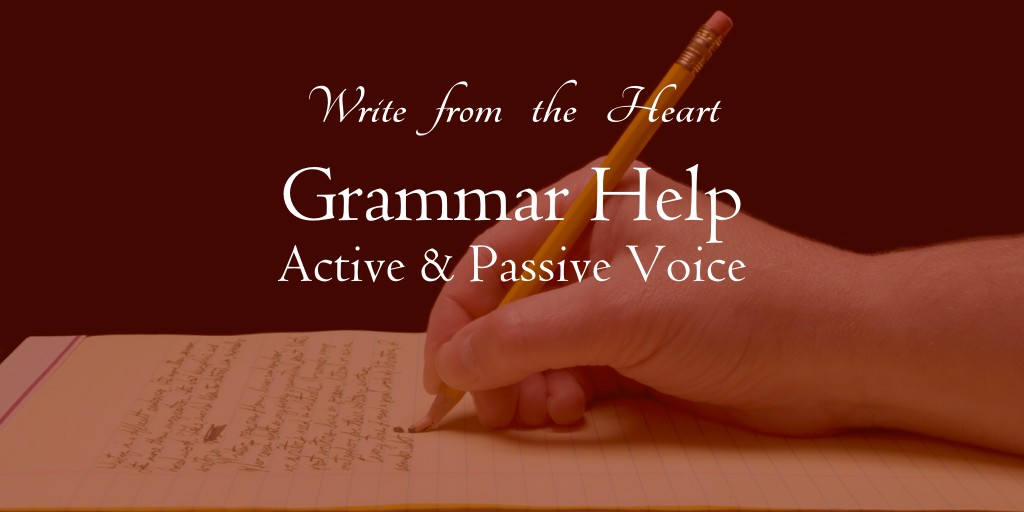 Do you use too much passive voice in writing? What's the difference between active and passive voice? Get the grammar help here.